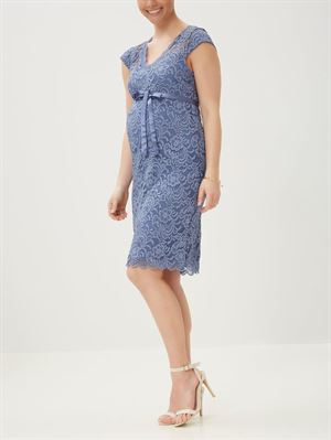 NEW MIVANA lace kjole - colony blue