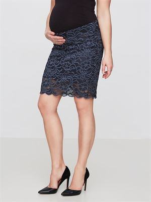 MIVANA lace nederdel - ombra blue